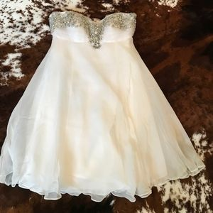 Basic II Cream Embellished Dress